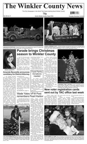 The Winkler County News (Kermit, Tex.), Vol. 80, No. 47, Ed. 1 Thursday, December 10, 2015