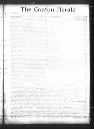 Primary view of object titled 'The Canton Herald (Canton, Tex.), Vol. 35, No. 19, Ed. 1 Friday, May 11, 1917'.