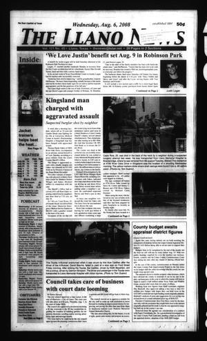 The Llano News (Llano, Tex.), Vol. 121, No. 45, Ed. 1 Wednesday, August 6, 2008