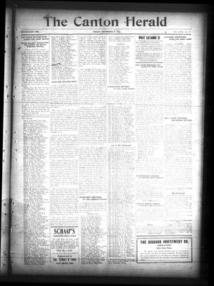 Primary view of The Canton Herald (Canton, Tex.), Vol. 35, No. 38, Ed. 1 Friday, September 21, 1917
