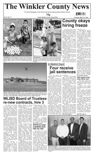 The Winkler County News (Kermit, Tex.), Vol. 81, No. 11, Ed. 1 Thursday, March 31, 2016
