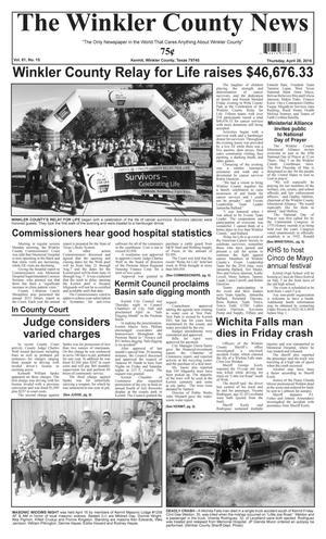 The Winkler County News (Kermit, Tex.), Vol. 81, No. 15, Ed. 1 Thursday, April 28, 2016
