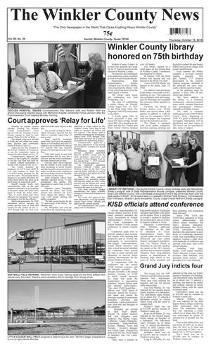 The Winkler County News (Kermit, Tex.), Vol. 80, No. 39, Ed. 1 Thursday, October 15, 2015