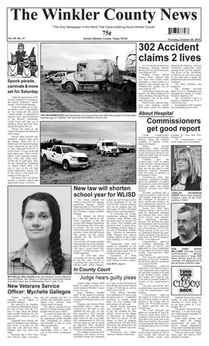 The Winkler County News (Kermit, Tex.), Vol. 80, No. 41, Ed. 1 Thursday, October 29, 2015