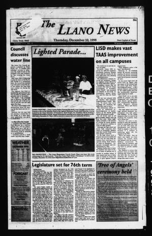 The Llano News (Llano, Tex.), Vol. 111, No. 9, Ed. 1 Thursday, December 10, 1998