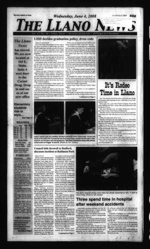 The Llano News (Llano, Tex.), Vol. 121, No. 36, Ed. 1 Wednesday, June 4, 2008