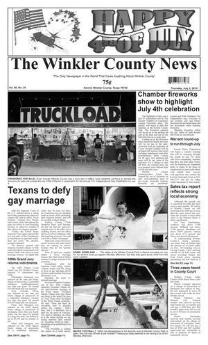 The Winkler County News (Kermit, Tex.), Vol. 80, No. 24, Ed. 1 Thursday, July 2, 2015