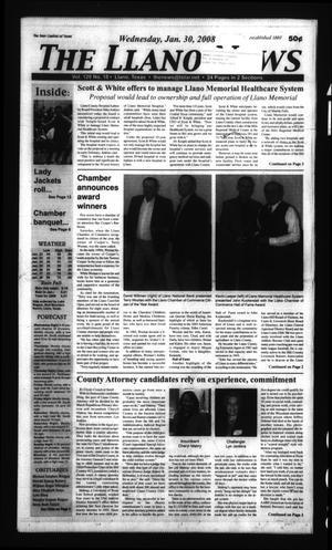 The Llano News (Llano, Tex.), Vol. 120, No. 18, Ed. 1 Wednesday, January 30, 2008