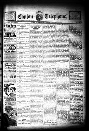 Primary view of The Canton Telephone. (Canton, Tex.), Vol. 9, No. 15, Ed. 1 Friday, November 7, 1890