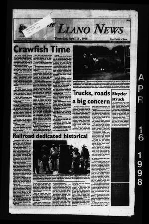 The Llano News (Llano, Tex.), Vol. 110, No. 27, Ed. 1 Thursday, April 16, 1998