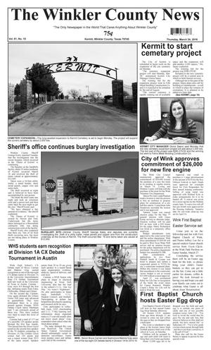 The Winkler County News (Kermit, Tex.), Vol. 81, No. 10, Ed. 1 Thursday, March 24, 2016