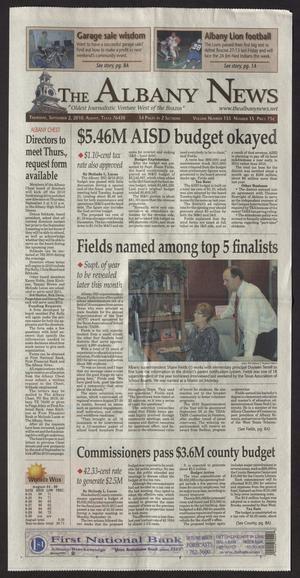 The Albany News (Albany, Tex.), Vol. 135, No. 15, Ed. 1 Thursday, September 2, 2010