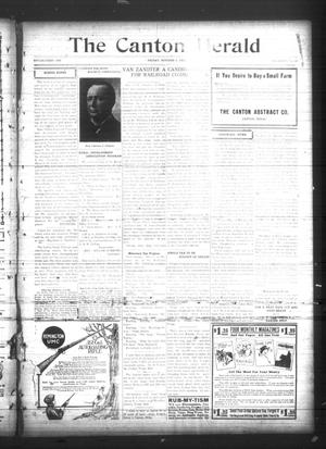 Primary view of object titled 'The Canton Herald (Canton, Tex.), Vol. 34, No. 40, Ed. 1 Friday, October 6, 1916'.