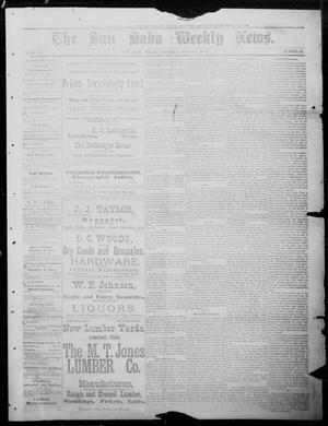 Primary view of object titled 'The San Saba Weekly News. (San Saba, Tex.), Vol. 11, No. 44, Ed. 1, Saturday, August 8, 1885'.
