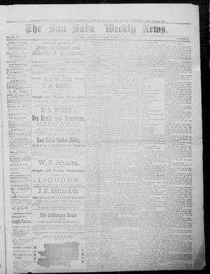 Primary view of object titled 'The San Saba Weekly News. (San Saba, Tex.), Vol. 12, No. 24, Ed. 1, Saturday, March 27, 1886'.