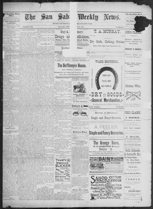 Primary view of object titled 'The San Saba Weekly News. (San Saba, Tex.), Vol. 17, No. 41, Ed. 1, Friday, August 21, 1891'.
