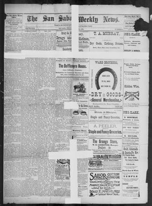 Primary view of object titled 'The San Saba Weekly News. (San Saba, Tex.), Vol. 17, No. 42, Ed. 1, Friday, August 28, 1891'.