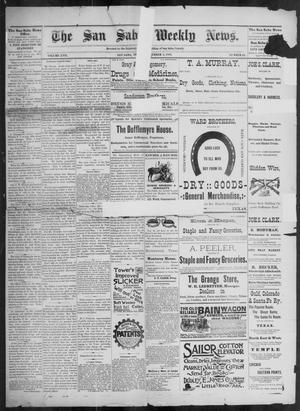 Primary view of object titled 'The San Saba Weekly News. (San Saba, Tex.), Vol. 17, No. 43, Ed. 1, Friday, September 4, 1891'.