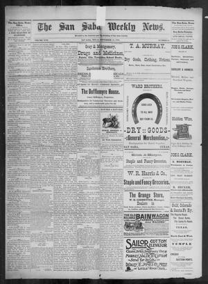 Primary view of object titled 'The San Saba Weekly News. (San Saba, Tex.), Vol. 17, No. 45, Ed. 1, Friday, September 18, 1891'.
