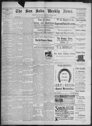 Primary view of object titled 'The San Saba Weekly News. (San Saba, Tex.), Vol. 17, No. 47, Ed. 1, Friday, October 2, 1891'.