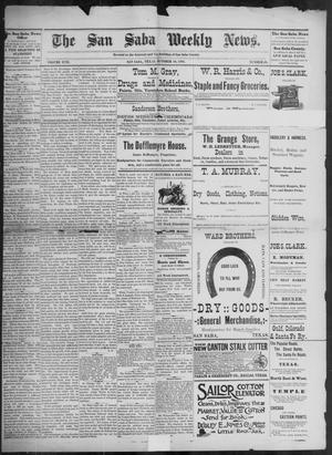 Primary view of object titled 'The San Saba Weekly News. (San Saba, Tex.), Vol. 17, No. 49, Ed. 1, Friday, October 16, 1891'.