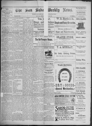 Primary view of object titled 'The San Saba Weekly News. (San Saba, Tex.), Vol. 17, No. 50, Ed. 1, Friday, October 23, 1891'.