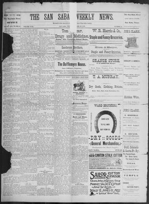 Primary view of object titled 'The San Saba Weekly News. (San Saba, Tex.), Vol. 17, No. 51, Ed. 1, Friday, October 30, 1891'.
