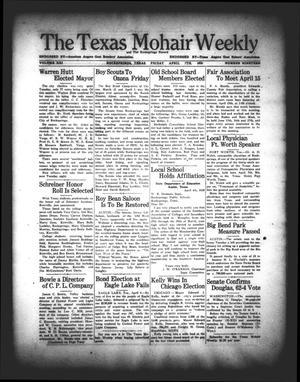 The Texas Mohair Weekly (Rocksprings, Tex.), Vol. 21, No. 19, Ed. 1 Friday, April 7, 1939