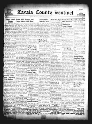 Zavala County Sentinel (Crystal City, Tex.), Vol. 40, No. 29, Ed. 1 Friday, November 16, 1951