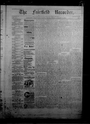Primary view of object titled 'The Fairfield Recorder. (Fairfield, Tex.), Vol. 16, No. 17, Ed. 1 Friday, January 15, 1892'.