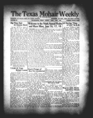 The Texas Mohair Weekly (Rocksprings, Tex.), Vol. 20, No. 29, Ed. 1 Friday, June 17, 1938