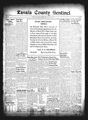 Zavala County Sentinel (Crystal City, Tex.), Vol. 39, No. 44, Ed. 1 Friday, February 23, 1951