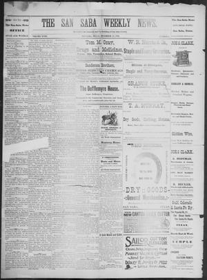 Primary view of object titled 'The San Saba Weekly News. (San Saba, Tex.), Vol. 18, No. 5, Ed. 1, Friday, December 11, 1891'.