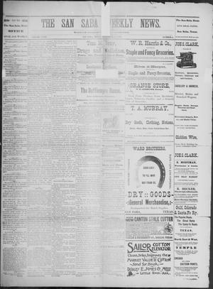 Primary view of object titled 'The San Saba Weekly News. (San Saba, Tex.), Vol. 18, No. 6, Ed. 1, Friday, December 18, 1891'.