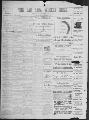 Primary view of object titled 'The San Saba Weekly News. (San Saba, Tex.), Vol. 18, No. 7, Ed. 1, Friday, December 25, 1891'.