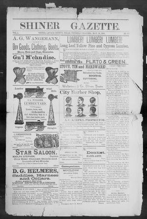 Primary view of object titled 'Shiner Gazette. (Shiner, Tex.), Vol. 1, No. 49, Ed. 1, Thursday, May 31, 1894'.