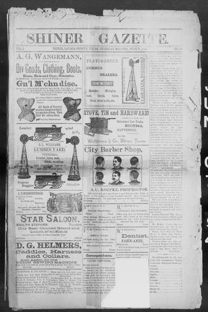Primary view of object titled 'Shiner Gazette. (Shiner, Tex.), Vol. 1, No. 50, Ed. 1, Thursday, June 7, 1894'.