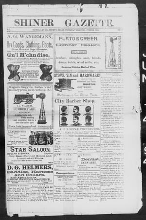 Primary view of object titled 'Shiner Gazette. (Shiner, Tex.), Vol. 1, No. 51, Ed. 1, Thursday, June 14, 1894'.