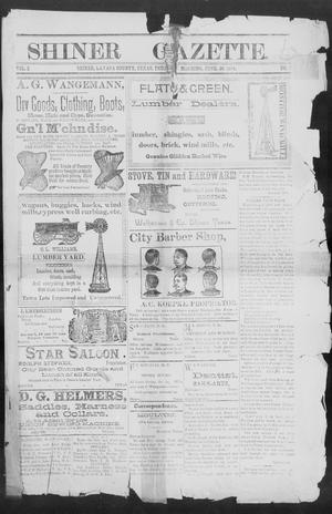 Primary view of object titled 'Shiner Gazette. (Shiner, Tex.), Vol. 2, No. 1, Ed. 1, Thursday, June 28, 1894'.