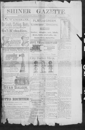 Primary view of object titled 'Shiner Gazette. (Shiner, Tex.), Vol. 2, No. 2, Ed. 1, Thursday, July 5, 1894'.