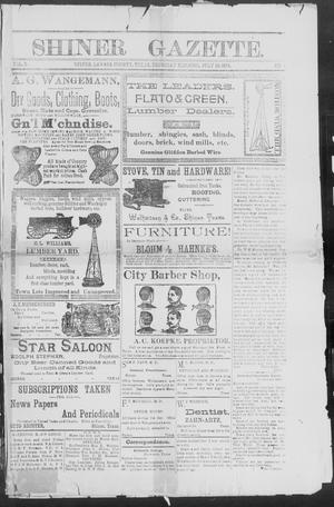 Primary view of object titled 'Shiner Gazette. (Shiner, Tex.), Vol. 2, No. 4, Ed. 1, Thursday, July 19, 1894'.