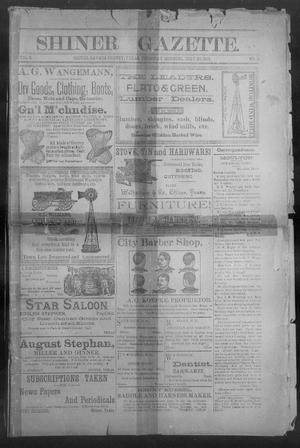 Primary view of object titled 'Shiner Gazette. (Shiner, Tex.), Vol. 2, No. 5, Ed. 1, Thursday, July 26, 1894'.