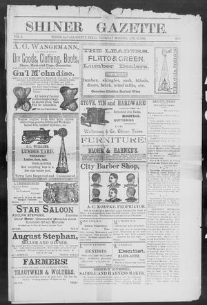 Primary view of object titled 'Shiner Gazette. (Shiner, Tex.), Vol. 2, No. 8, Ed. 1, Thursday, August 16, 1894'.