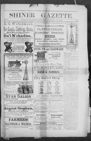 Primary view of object titled 'Shiner Gazette. (Shiner, Tex.), Vol. 2, No. 10, Ed. 1, Thursday, August 30, 1894'.