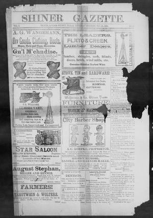 Primary view of object titled 'Shiner Gazette. (Shiner, Tex.), Vol. 2, No. 12, Ed. 1, Thursday, September 13, 1894'.