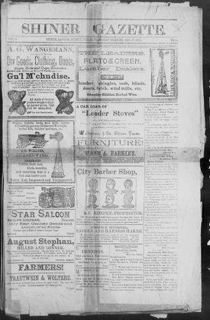 Primary view of object titled 'Shiner Gazette. (Shiner, Tex.), Vol. 2, No. 14, Ed. 1, Thursday, September 27, 1894'.