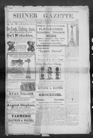 Primary view of object titled 'Shiner Gazette. (Shiner, Tex.), Vol. 2, No. 15, Ed. 1, Thursday, October 4, 1894'.