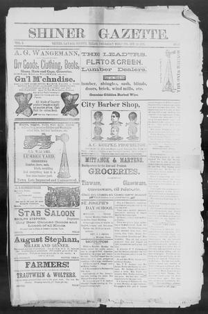 Shiner Gazette. (Shiner, Tex.), Vol. 2, No. 17, Ed. 1, Thursday, October 18, 1894