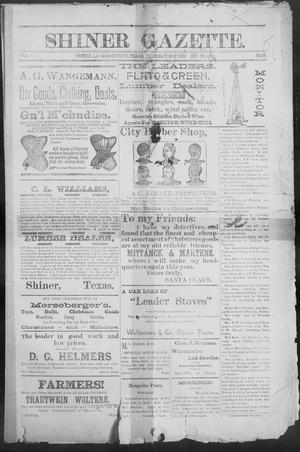 Primary view of object titled 'Shiner Gazette. (Shiner, Tex.), Vol. 2, No. 26, Ed. 1, Thursday, December 20, 1894'.