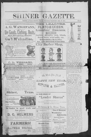 Primary view of object titled 'Shiner Gazette. (Shiner, Tex.), Vol. 2, No. 27, Ed. 1, Thursday, December 27, 1894'.